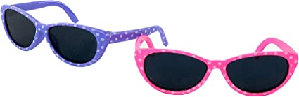 SUNGLASSES LAVENDER POLKA DOTS FOR 14 IN AMERICAN GIRL WELLIE WISHERS DOLLS