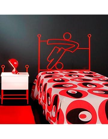 Fdforja Cabecero, diseño fútbol, para colchón de 90 cm, Metal, 128 x
