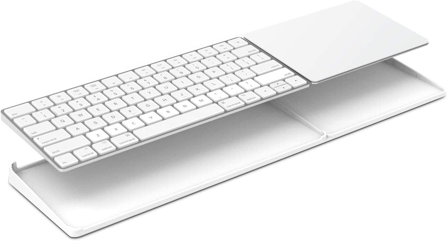 Bestand Stand for Magic Trackpad 2(MJ2R2LL/A) and Apple latest Magic Keyboard(MLA22LL/A) Apple Keyboard and Trackpad NOT Included (White) (Renewed)