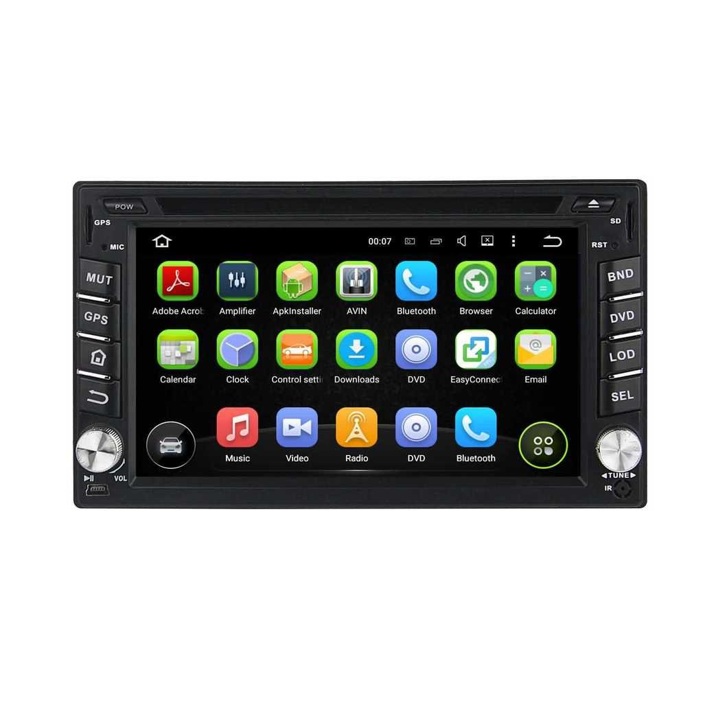 2 Din 6.2 pouces Android 5.1.1 Lollipop stéréo de voiture pour Nissan Pathfinder 2005 2006 2007 2008 2009 2010,DAB+ radio 800x480 écran tactile capacitif avec Quad Core Cortex A9 1.6G CPU 16G flash et 1G