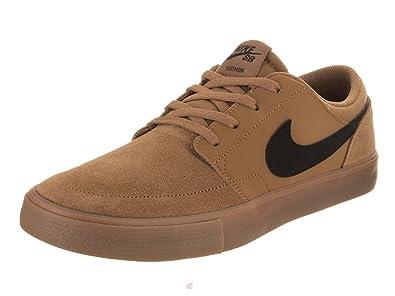 NIKE Men's SB Portmore II Solar Golden Beige/Black Skate Shoe 8.5 Men US