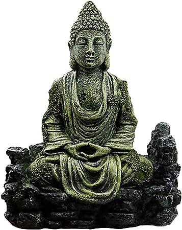 Faderr Décoration D Aquarium Statue De Bouddha Antique En Résine Décoration D Aquarium Amazon Fr Cuisine Maison