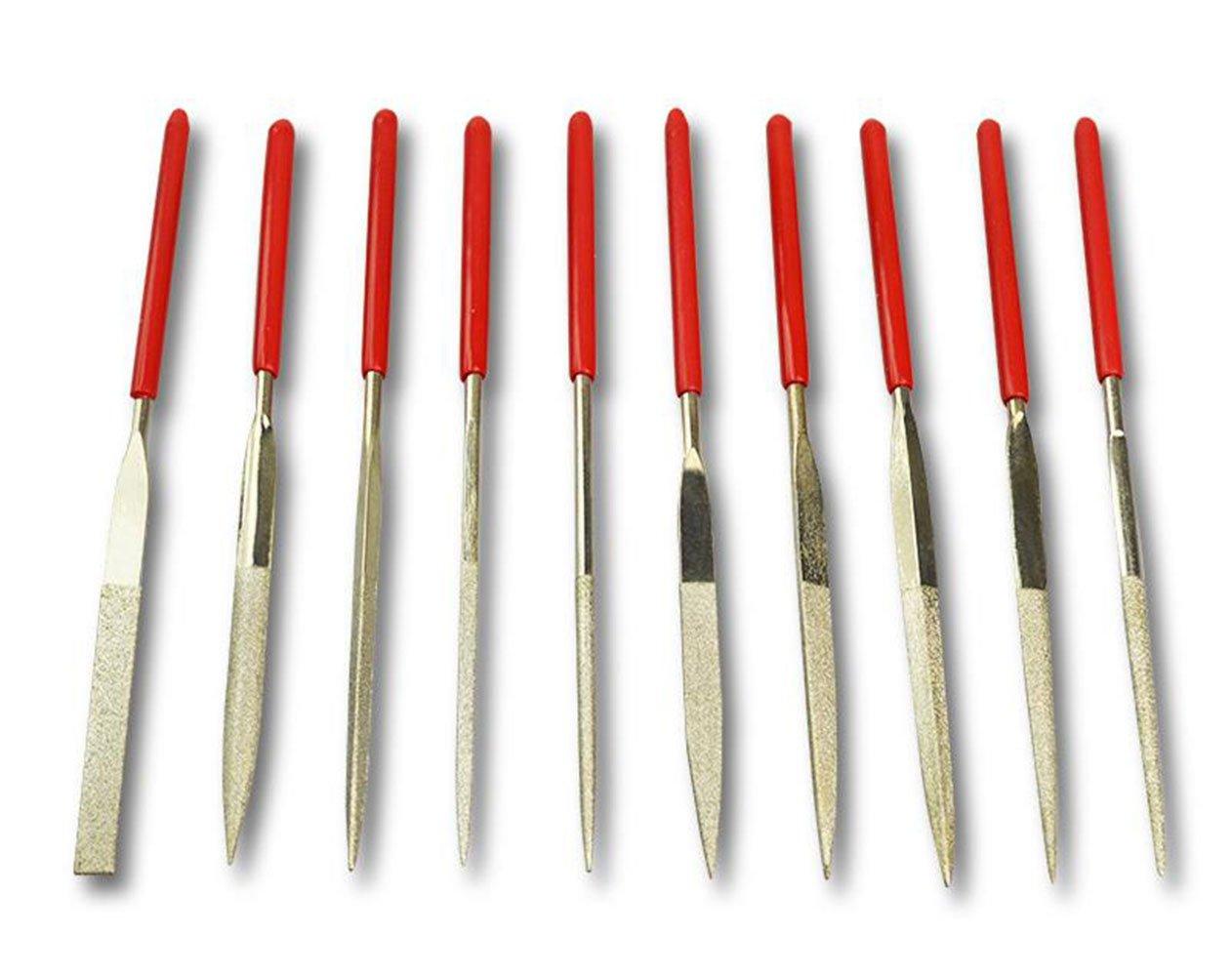 MINGZE Un groupe de 10 Poign/ée en plastique Diamant R/âpe,Cordes de guitare oreiller Outil de r/éparation de fichiers