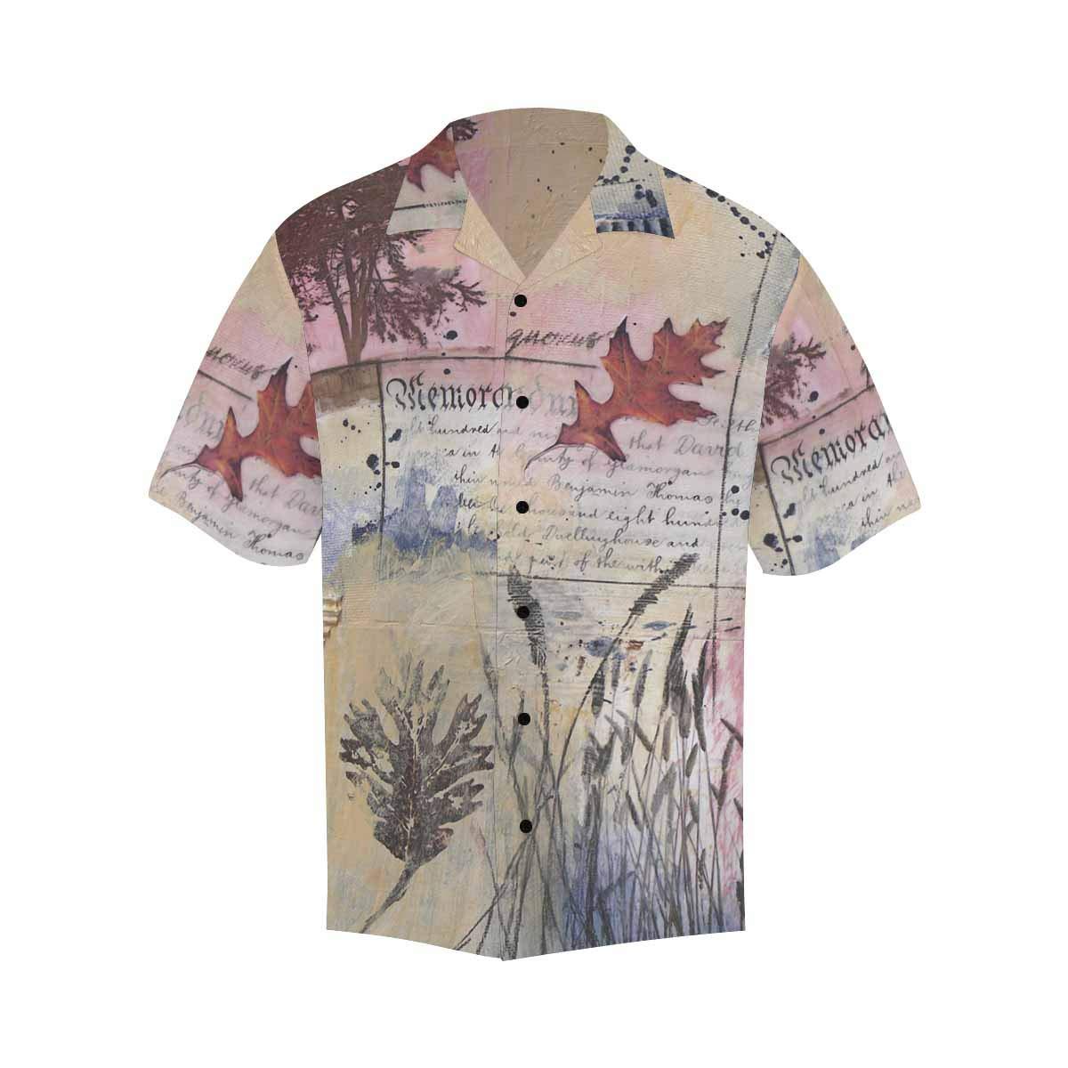 InterestPrint Hawaiian Milky Way and Dead Tree T-Shirt Summer Short Sleeve Shirts