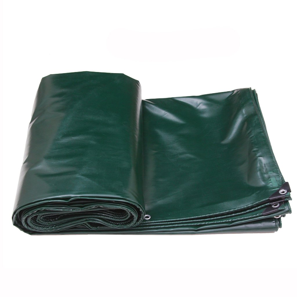 厚い防水性の雨日焼け止めの防水シートのタパフリントラックのファジー布の防水シートPVC (色 : 濃い緑色, サイズ さいず : 3 * 3m) B07FLZLJYX 3*3m|濃い緑色 濃い緑色 3*3m