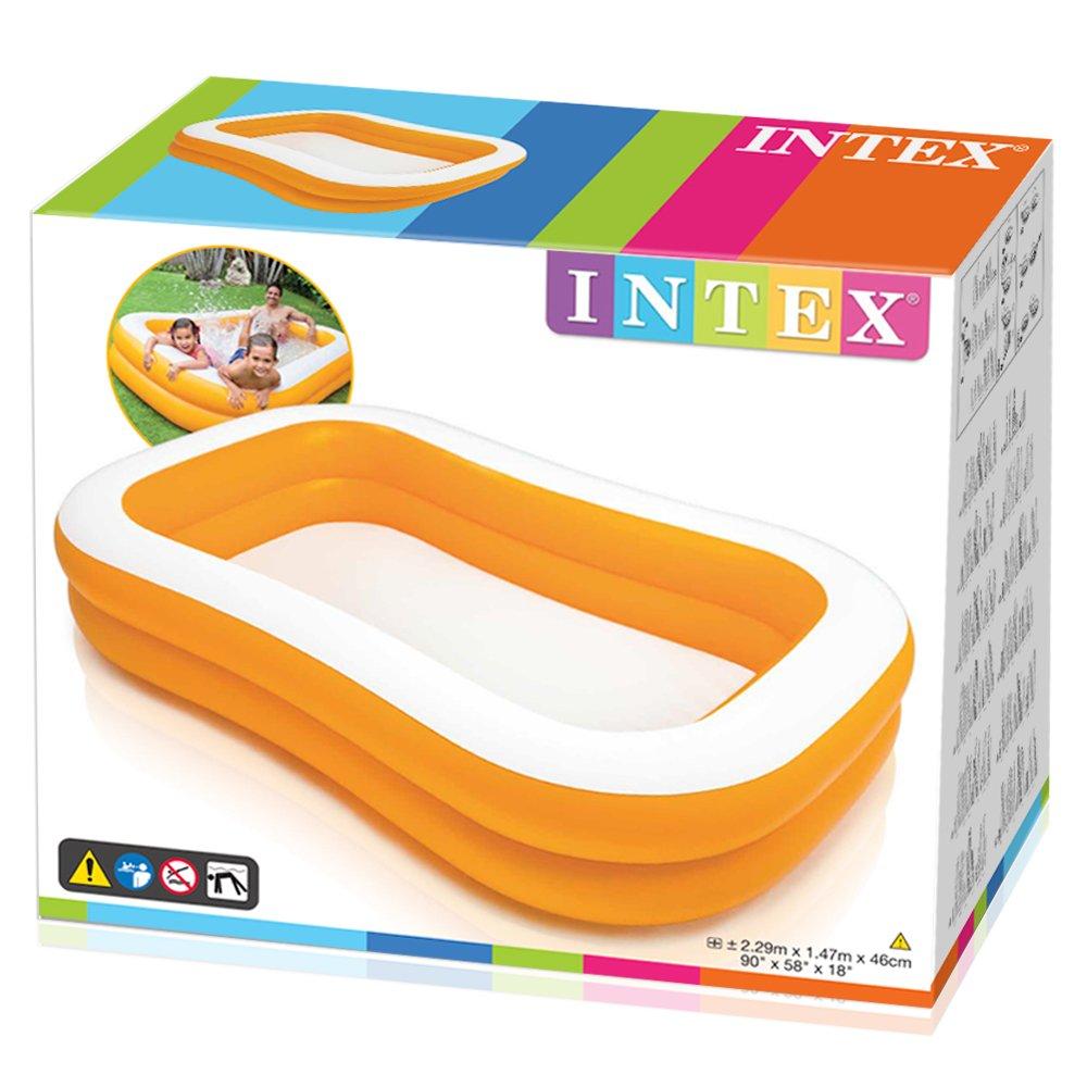 Intex 57181NP - Piscina hinchable rectangular 229 x 147 x 46 cm, 600 litros
