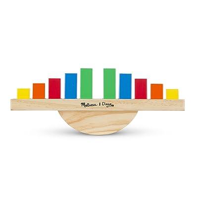 Melissa & Doug 15197 Rainbow Balance Wooden Educational Toy: Toys & Games