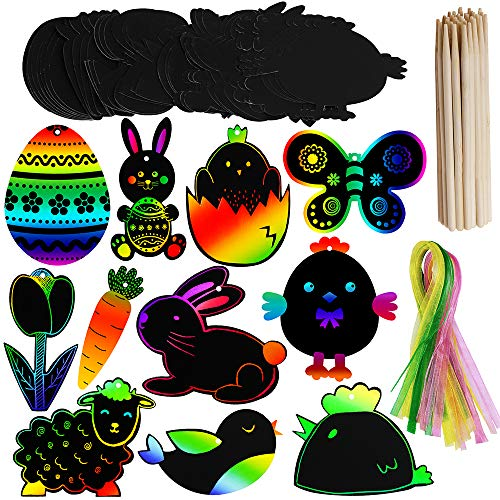 Supla 48 Set Scratch Easter Day Ornaments Egg