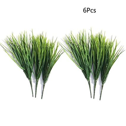 6PCS Artificial Shrubs Artificial Boston Fern Plants Greenery Bushes Home Decor
