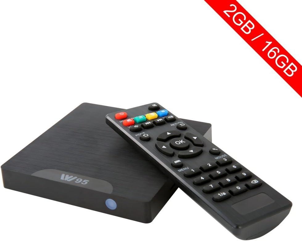 W95 Smart TV Box Android 7.1 2 GB RAM 16 GB ROM Quad Core 4 K Ultra HD Wifi H.265: Amazon.es: Electrónica