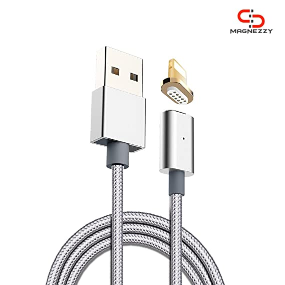 Magnezzy Magnetic Cable i Connector with Cable (Silver) USB Cables at amazon