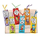 Fun Express 48 ~ Superhero Laminated Bookmarks ~ Size: 2