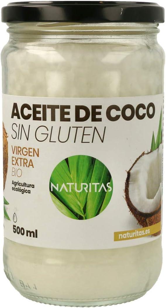 Naturitas Aceite de Coco | 500ml | Virgen extra | Bio | Efecto antibacteriano | Perfecto para cocinar | Hidratante de cabello y piel | Vitamina E | ...