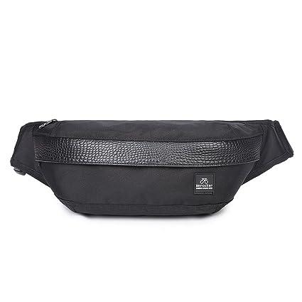 50280088eb127 Lingae Nylon Waist Bag Fanny Pack Outdoor Sport Travel Large Capacity  Waterproof Sling Belly Pack for Men Women - Black