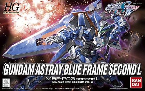 - Bandai Hobby #57 HG Gundam Astray Blue Frame Second L Model Kit, 1/144 Scale