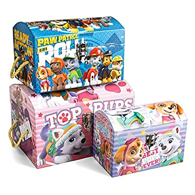 Tri Coastal Design Nickelodeon PAW Patrol Dome 3 Different Sizes Storage Chest Trunks Bin Box Organizer (Set of 3) with Rope Carry Handles