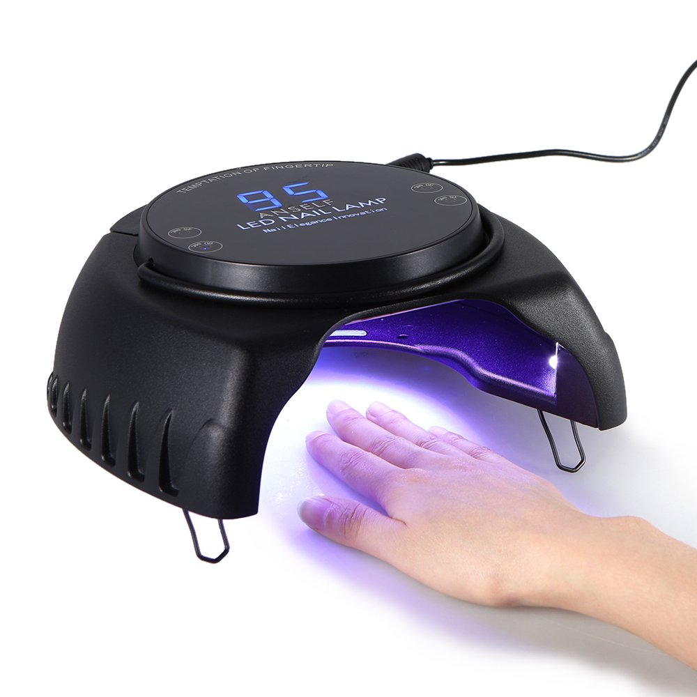 Anself 60W LED UV Nail Dryer Curing Lamp Machine With Lifting Handle, Powerful Nail Polish Gel Dryer Salon Tool, Touch Sensor LCD Screen