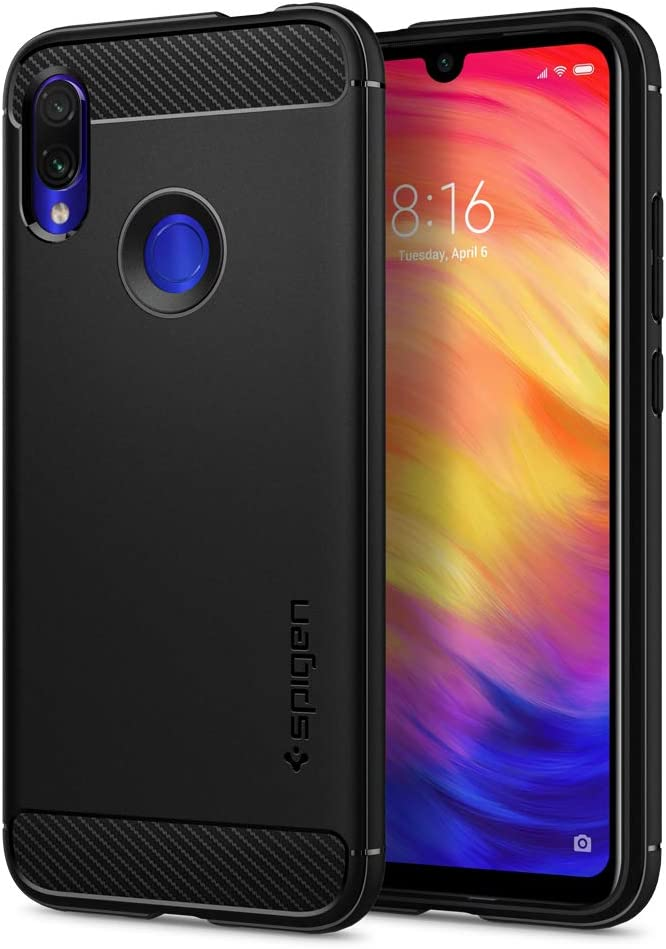Spigen Rugged Armor Case For Xiaomi Redmi Note 7 Original Patent Design Flexible Black Tpu Ergonomic Grip Phone Cover For Redmi Note 7 Case Amazon Co Uk Electronics