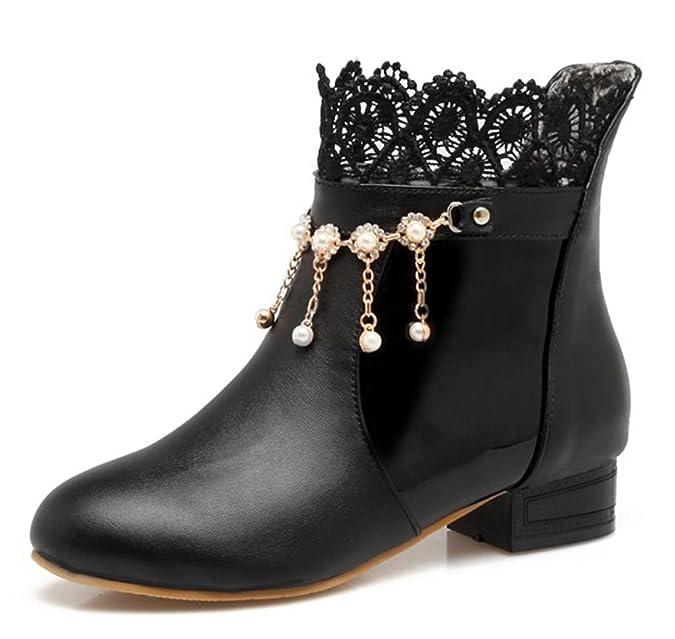 Amazon.com: aisun mujeres lindo cordones Rhinestone Pull On ...