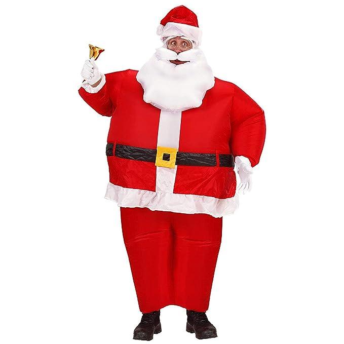 WIDMANN 7550 C de Papá Noel Hinchable, cinturón, Barba con ...