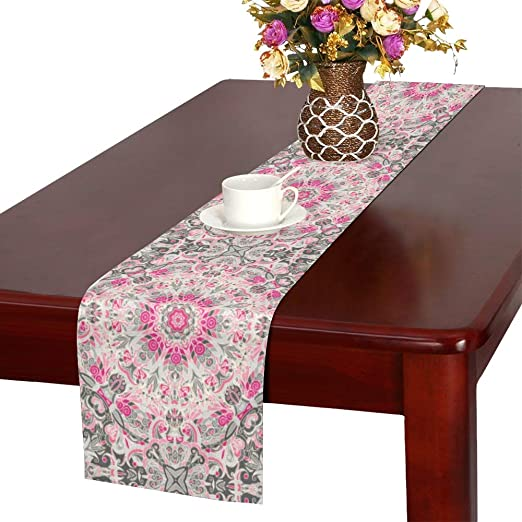 Table Runner Floral Embroidery Retro Persian Tablecloth Wedding Home Decor Chic