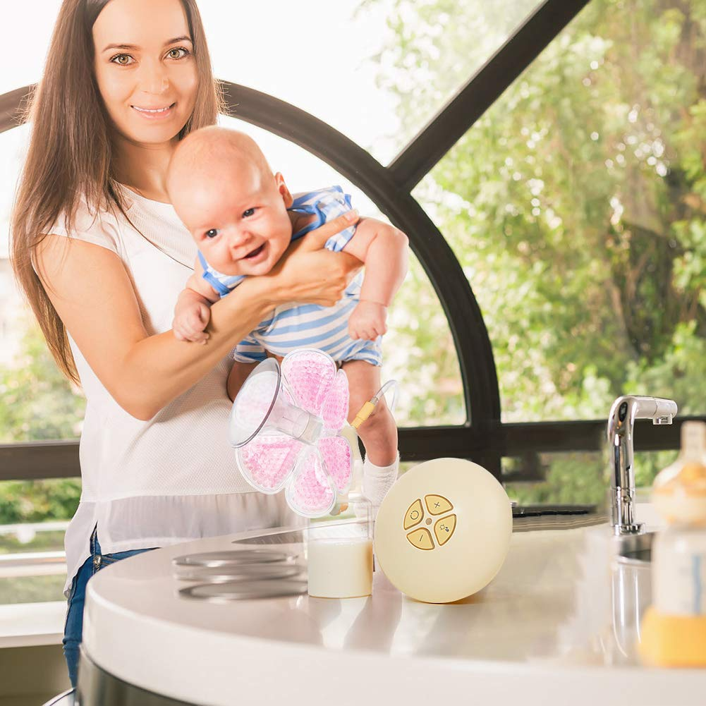 Breast Pads Decrease Engorgement Nursing Pads Encourage Let-Down Breast Ice Pack Hot/Cold Use for Nursing Mothers to Increase Milk Production for Breast Pump by CYOUH-1 Pair