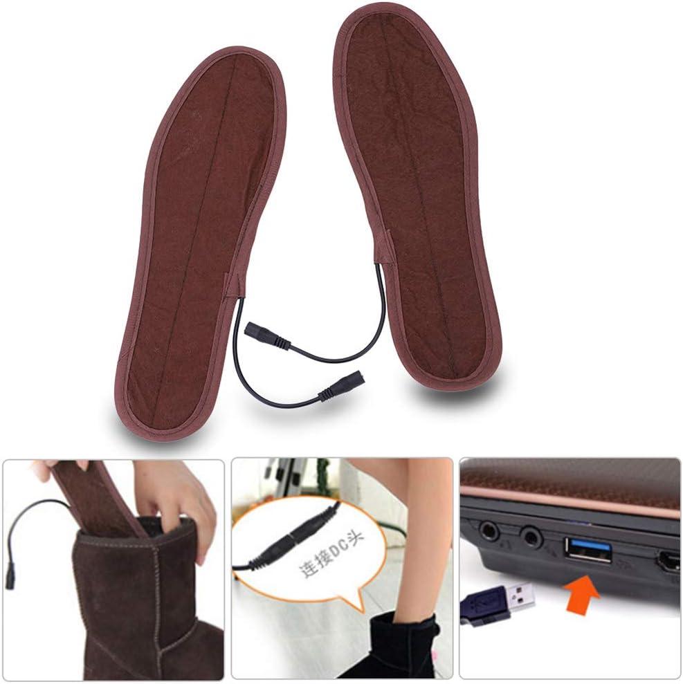 Alomejor chauff/é /à Chaussures /à Semelles Electric Power chauff/ée Warmer Chaussures Bottes Semelles Garder Vos Pieds au Chaud Shoe-Pad avec Trois Modes de Chauffage