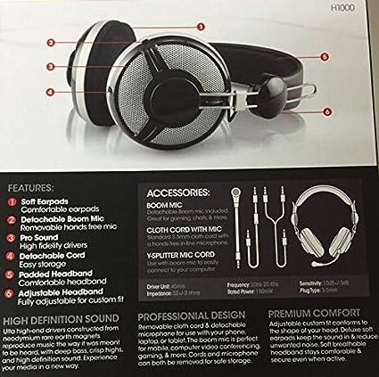 Amazon.com  TopOne Sentry Premium Stereo Headphones H1000 Music ... 24db6ae4a5