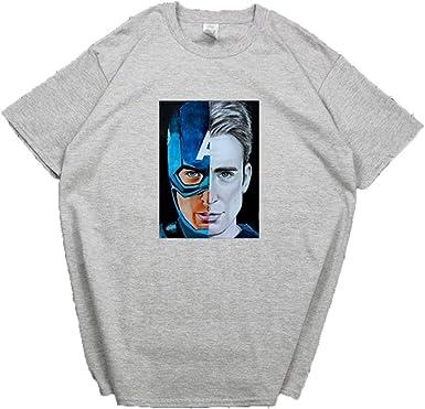 Camiseta Capitán América Capitán América Chris Evans Ropa Estudiante Avengers Manga Corta Hombre: Amazon.es: Ropa y accesorios