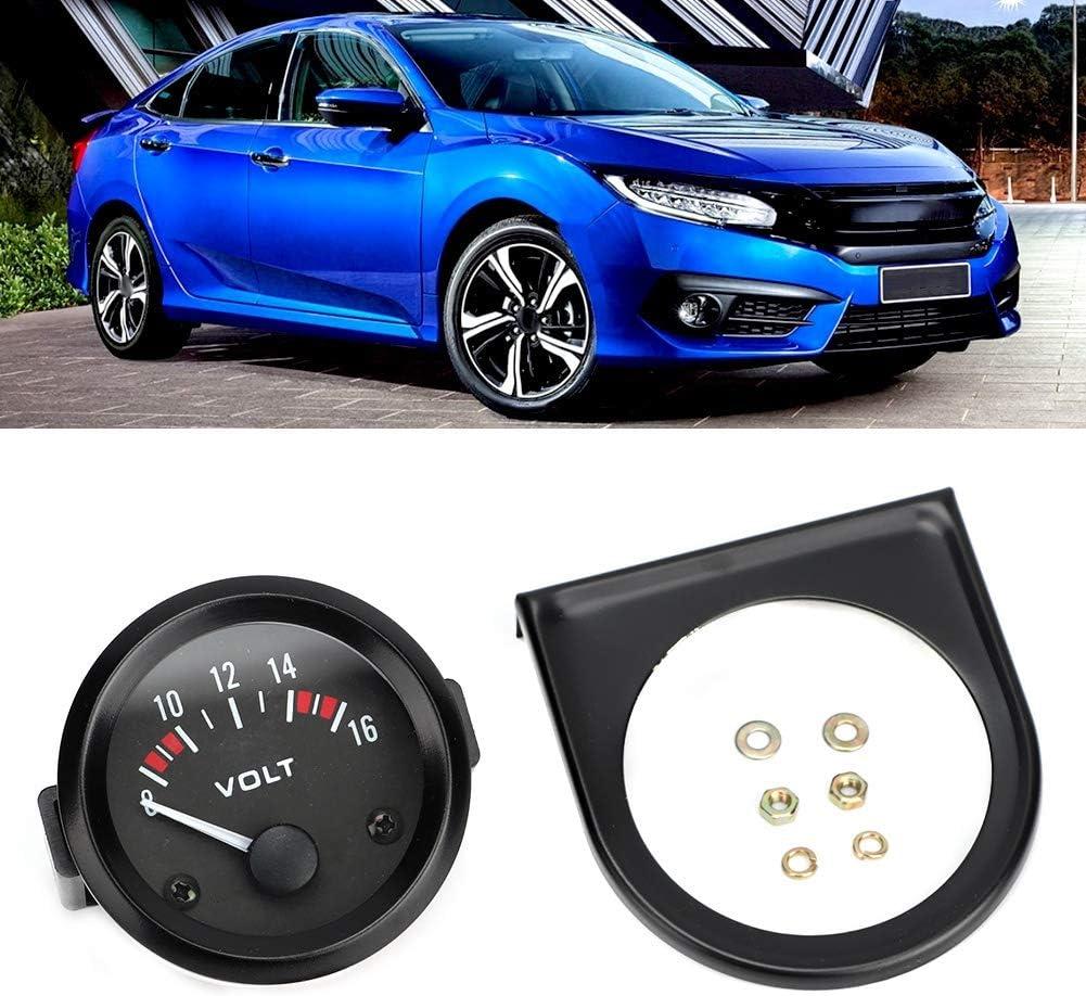 Qii lu Car Universal 12V Voltmeter 52mm//2in Voltage Meter Gauge 8-16V BX100007