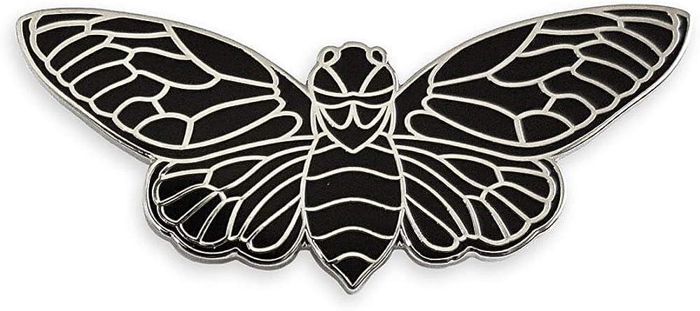Pinsanity Black Cicada Enamel Lapel pin