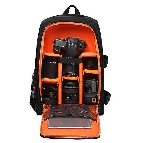 AHDA - Mochila para cámara réflex Digital (Nailon, Resistente al ...