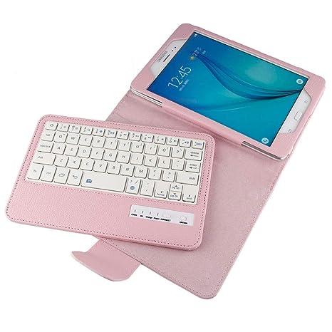 Samsung Galaxy Tab A 8.0 SM-T380 T385 Tablet Keyboard Leather Case, Folio PU