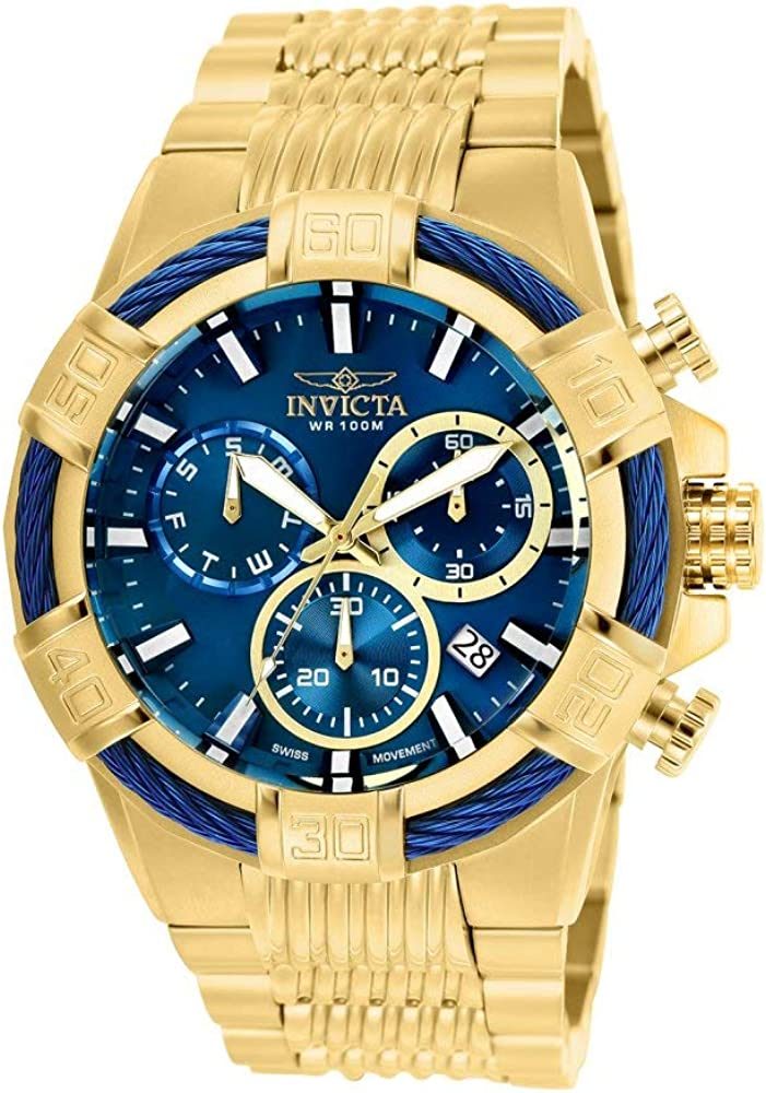 Invicta Men s Bolt Quartz Watch with Stainless-Steel Strap, Gold, 30 Model 25866