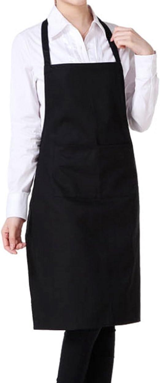 itemer 1pc Unisex delantal de algodón Delantal con bolsillo para ...