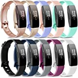 AK Soft TPU Wristbands Compatible with Fitbit Inspire HR/Fitbit Inspire/Fitbit Ace 2 Bands, Sports Waterproof Wristbands…