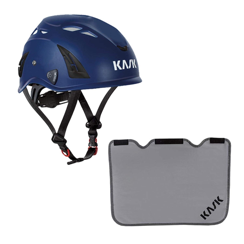 Arbeitsschutzhelm Farbe:hellblau Bergsteigerhelm Nackenschutz grau mit BG Bau F/örderung KASK Schutzhelm Drehrad Industriekletterhelm Plasma AQ
