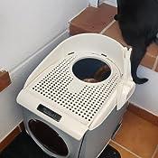DADYPET Arenero gatos 55*46*49cm Aseo Gatos Doble puerta giratoria ...