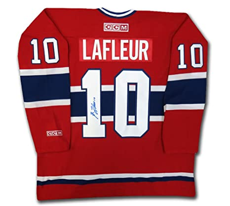 250749ae5 Image Unavailable. Image not available for. Color  Guy Lafleur Autographed  Red Montreal Canadiens Jersey