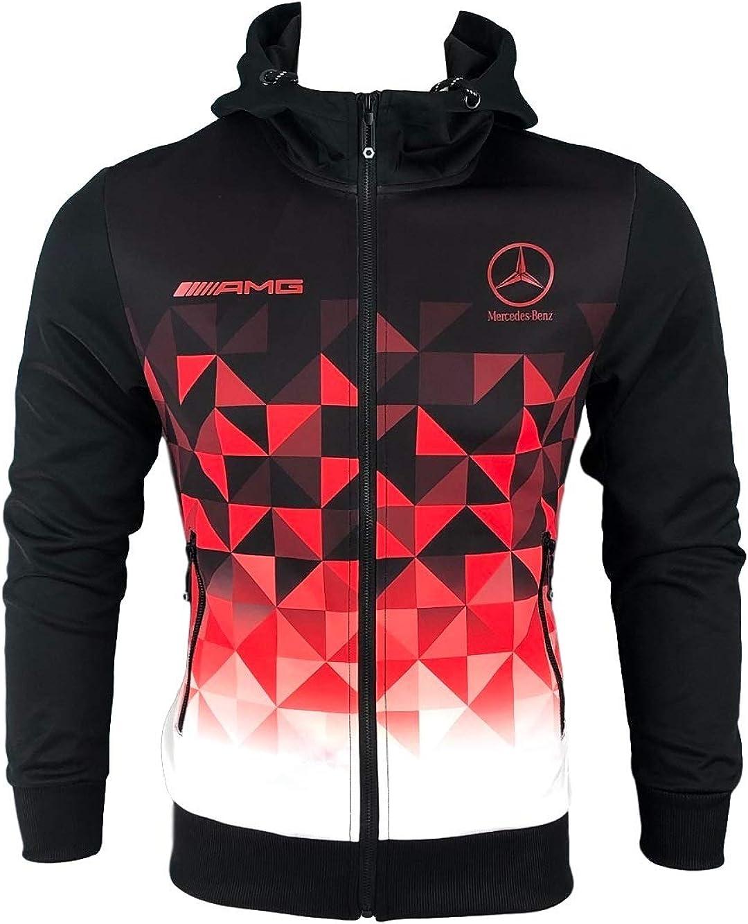 Furia Rossa Surv/êtement Noir Rouge Blanc Logo Mercedes AMG T117-R