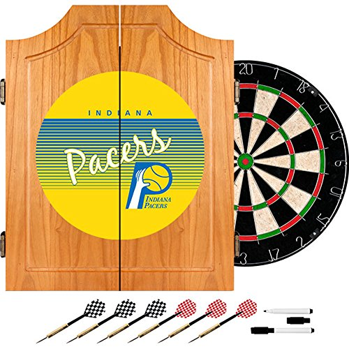 NBA Indiana Pacers Wood Dart Cabinet, One Size, Brown by Trademark Global
