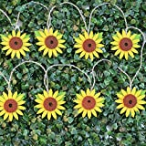 Gogo shopping Non-woven Fabrics Sunflower String Lights 5.3Ft 2 AA Battery Operated 10 LEDs for Wedding, Baby Shower, Outdoor, Indoor, Holiday Home Parties Decorations (Warm white)