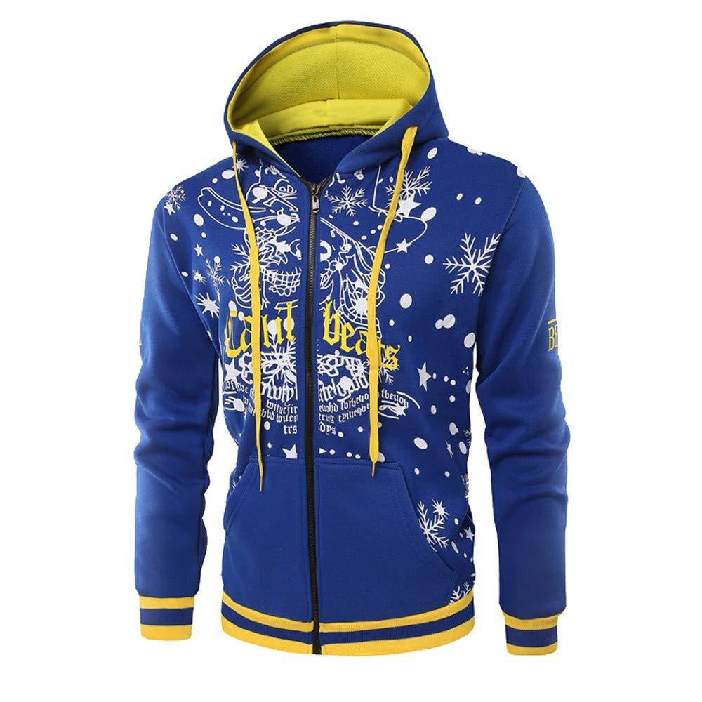 Fashion Hooded Coat,GREFER Men Winter Long Sleeve Pocket Zipper Outwear Christmas Costume