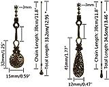 Hyamass 2pcs Vintage Hollow Out Charm Pendant
