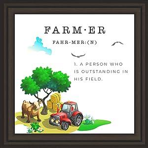 Farmers Decor | Farmhouse Kitchen Decorations | Bathroom Farm Signs | Funny Farmer Gifts | Farming Home Wall Plaque | Country Themed Kitchen Decor