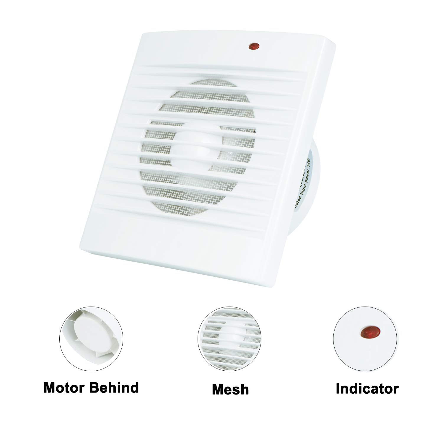 Ventilation Exhaust Fan, HG POWER Strong Exhaust Extrator Fan Wall Mount & Ceiling Exhaust Fan Built-in Household Ventilation Fans (PI372) by HG POWER (Image #2)