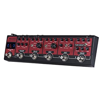 Muslady MOOER RED TRUCK 6-en-1 Pedal de Efectos Combinados Boost + Overdrive