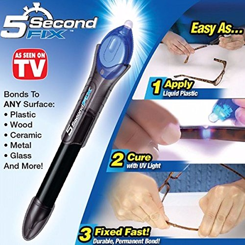 5-Second Fix/Fill/Seal/Repair UV Light Glue Liquid-Plastic Welding Tool Pen