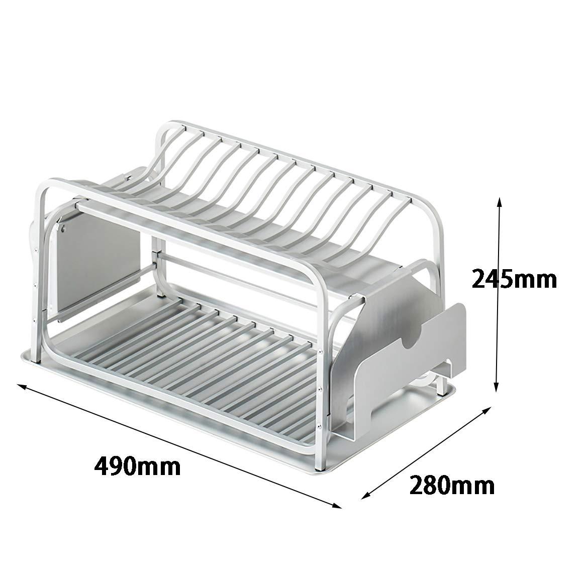Rack de cocina de 2 niveles, rejilla de drenaje, caja de ...