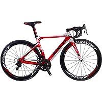 SAVADECK Vélo de Route, Phantom 8.0 700C Fibre de Carbone Velo de Course Homme avec Campagnolo Chorus 22 Vitesses Groupe Michelin 25C Pneu et Fizik Selle Route